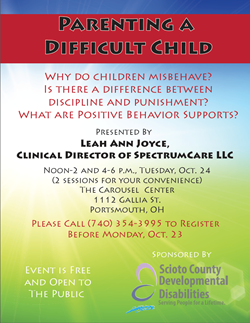 """Parenting a Difficult Child"" to be Offered Oct. 24"