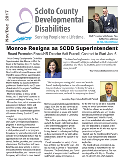 Cover of the November/December newsletter