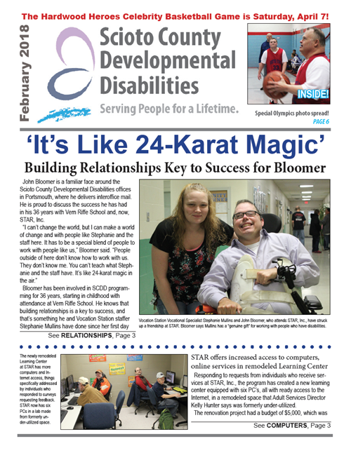 This month's newsletter features STAR's newly remodeled learning center and Special Olympics news!