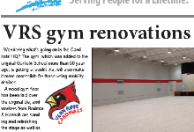 Newsletter cover with story on VRS gym renovations