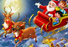 Santa and reindeer with 2020 VRS basket raffle
