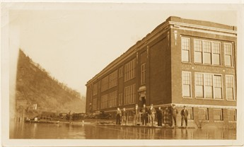 School Building during 1937 flood